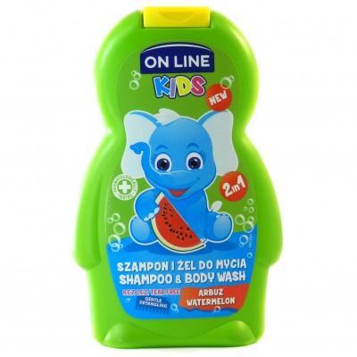 Шампунь дитячий On Line кавун 250мл