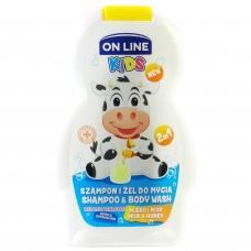 Шампунь дитячий On Line молоко та мед 250мл
