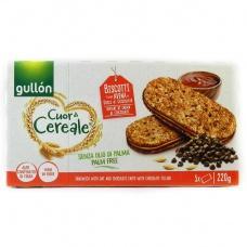 Печиво Gullon vitalday цільнозервове з шоколадною начинкою  220г