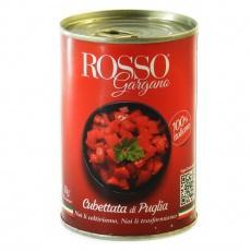 Помідори Rosso Gargana очищені, різані кубиками 400г