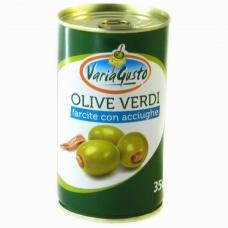 Оливки Varia Gusto фаршировані анчоусом 350г/