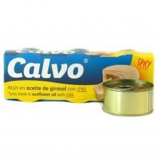 Тунець шматками Calvo в соняшниковій олії з чилі 80 г