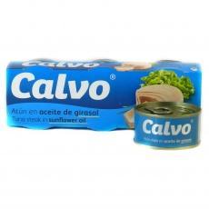 Тунець шматками Calvo в соняшниковій олії 80 г