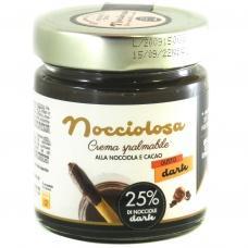 Шоколадна паста Nocciolosa custo dark чорний шоколад 200г
