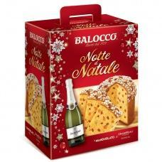 Подарунковий набір Balocco шампанське Grand Reale + панетон з цукатами 750г