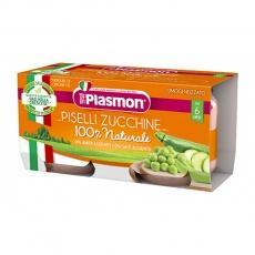 Пюре Plasmon горошок та кабачок від 6міс. без глютену 80г