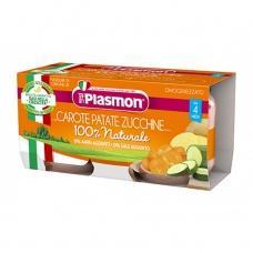 Пюре Plasmon морква картопля та кабачок від 4міс. без глютену 80г