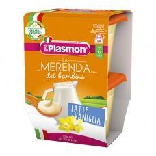 Пюре Plasmon молоко та ваніль без глютену до 6міс. 2*120г