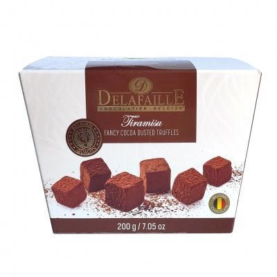 Цукерки шоколадні Delafaille трюфель тірамісу 200г