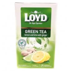 Чай Loyd зелений лайм лимон та імбир 20пакетиків