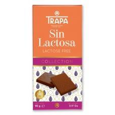Шоколад Trapa молочний без лактози 90г