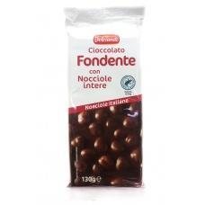 Шоколад Dolciando чорний з горіхом 130г