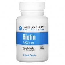 Вітаміни Lake Avenue Nutrition Biotin 30 шт