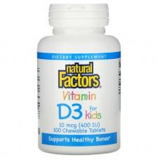 Вітаміни Natural Factors Vitamin D3 for Kids 100 шт