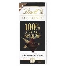 Шоколад Lindt чорний 100% какао 50г