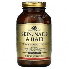 Вітаміни Solgar Skin, Nails & Hair, Advanced MSM Formula 120шт