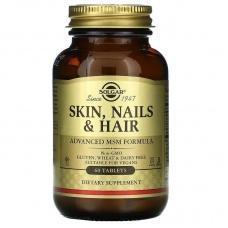 Вітаміни Solgar Skin, Nails & Hair, Advanced MSM Formula 60шт