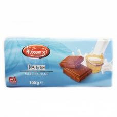 Шоколад Witors молочний 30% какао 100г