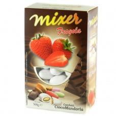 Цукерки Mixer мигдаль в шоколаді полуниця 0,5кг