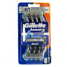 Станки для гоління Gillette Sensor3 Comfort 8шт