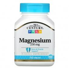 Вітаміни 21st Century Магній 250мг, 110 шт