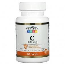 Вітаміни 21st Century Вітамін С 100мг, 60шт