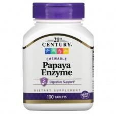 Вітаміни 21st Century Фермент Папайї (для травлення) 100шт