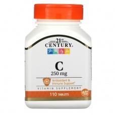 Вітаміни 21st Century Vitamin С 250мг,110шт