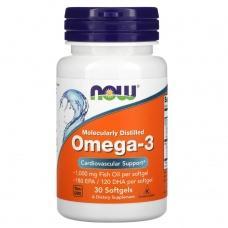 Вітаміни Now Omega3 30шт