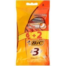 Станки для гоління Bic3 Sensitive 8шт