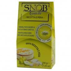 Цукерки SNOB мигдаль в шоколаді смак сиру рікотта і груша 200г