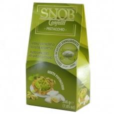 Цукерки SNOB мигдаль в шоколаді з фісташковим смаком 200г