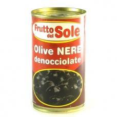 Оливки Frutto del Sole чорні без кісточки 350г