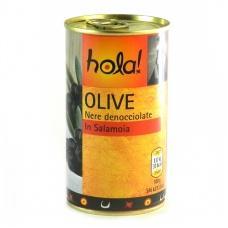Оливки Hola чорні без кісточки 350г