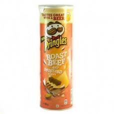 Чіпси Pringles ростбіф та гірчиця 165г